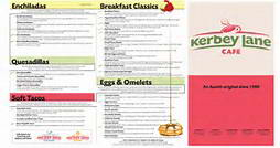 Kerbey Lane Cafe Menu